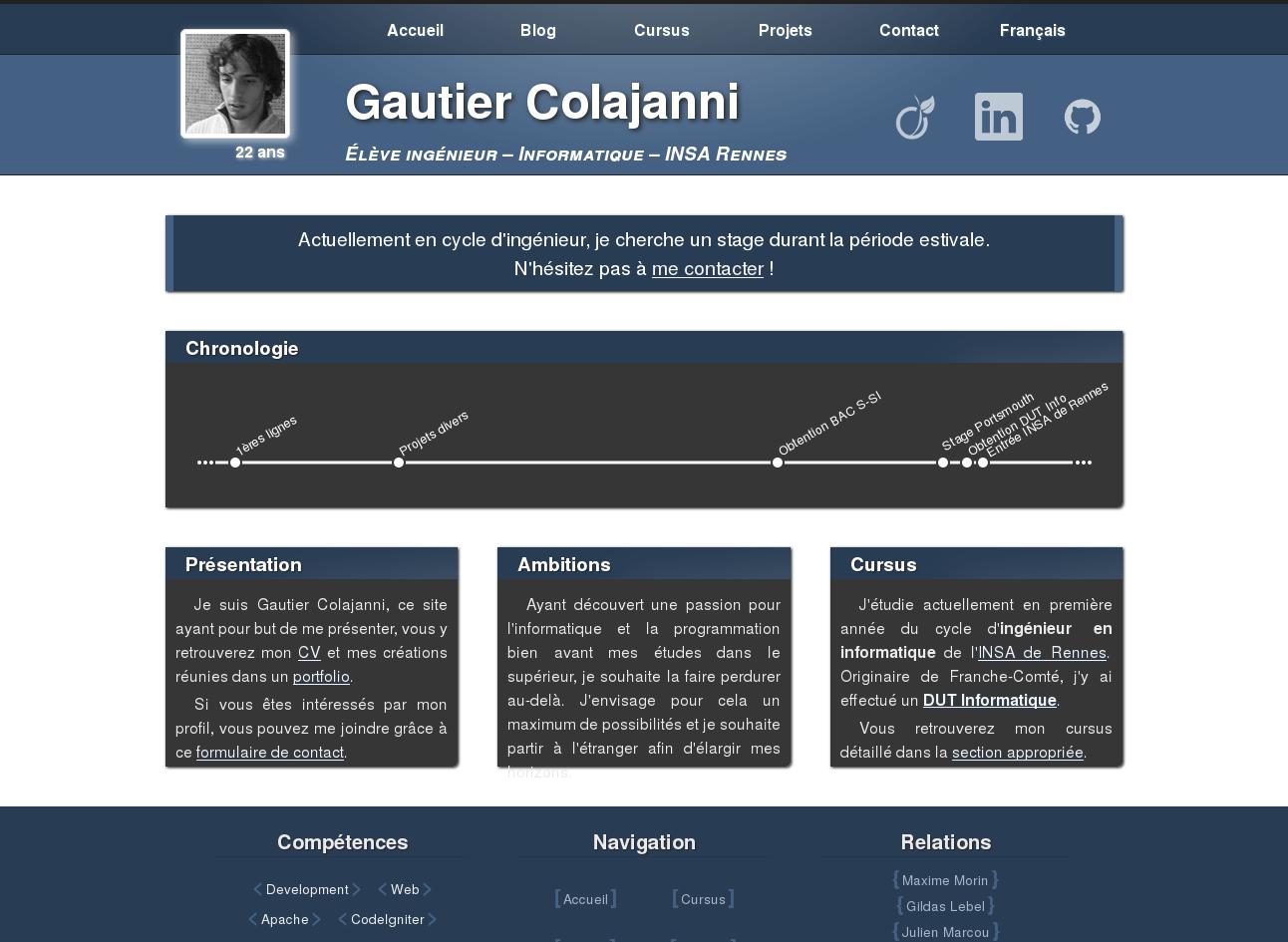 Ancien Web CV